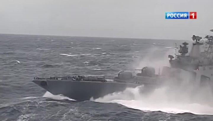 Отряд российских кораблей в Ла-Манше взволновал британских моряков