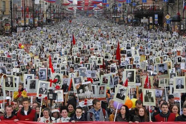 В шествии «Бессмертного полка» участвовали 12 миллионов россиян