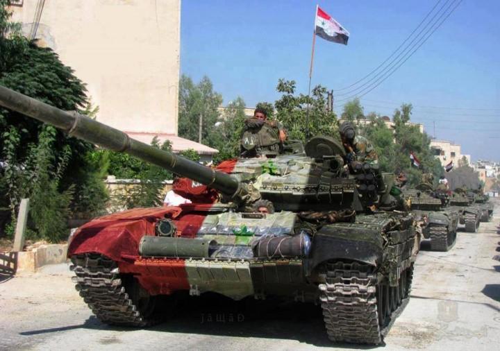 Российские военные восстановили завод по ремонту танков в Хомсе