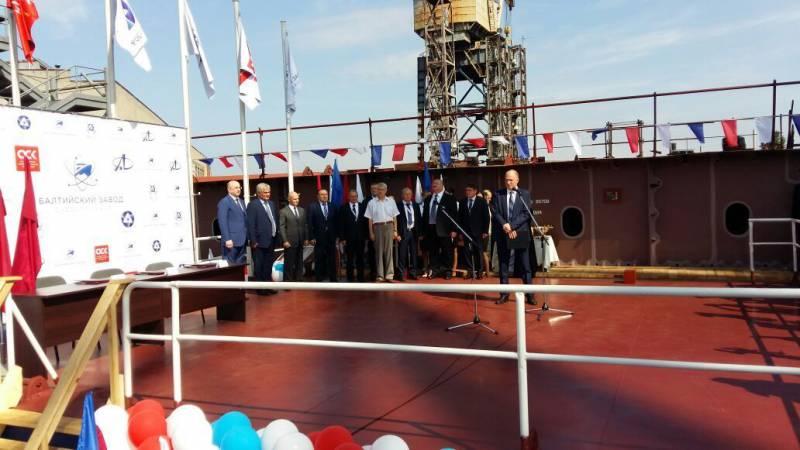 В Петербурге заложен атомный ледокол «Урал»