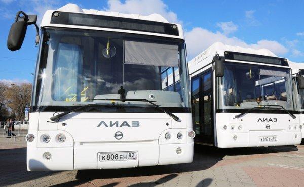 В Крым поступила новая партия автобусов марки «НЕФАЗ» и «ЛИАЗ»