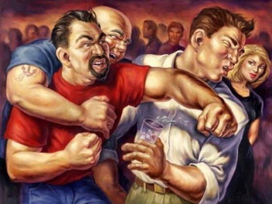 """Московские работяги избили """"бандеровцев"""" за """"Славу Украине!"""""""