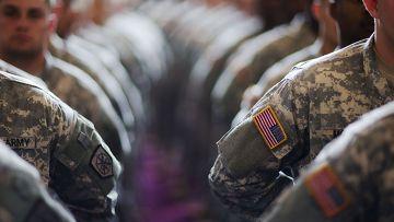 Американские солдаты перед отправкой в Афганистан