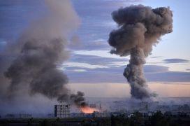 Дым над Кобани после авиаудара коалиции во главе с США