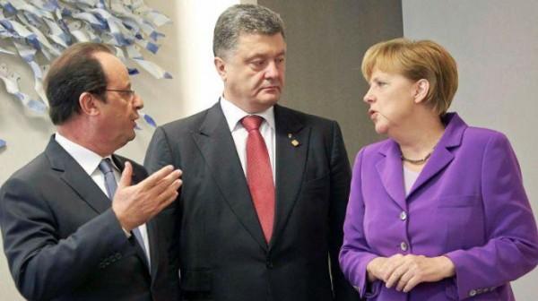 Меркель и Олланду не дадут выстрелить дуплетом. Порошенко дали пинка под зад