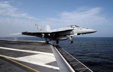 Американский истребитель-бомбардировщик F/A-18E Super Hornet