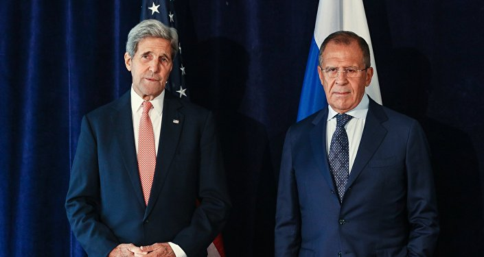 Госсекретарь США Джон Керри м министр иностранных дел РФ Сергей Лавров . Архивное фото