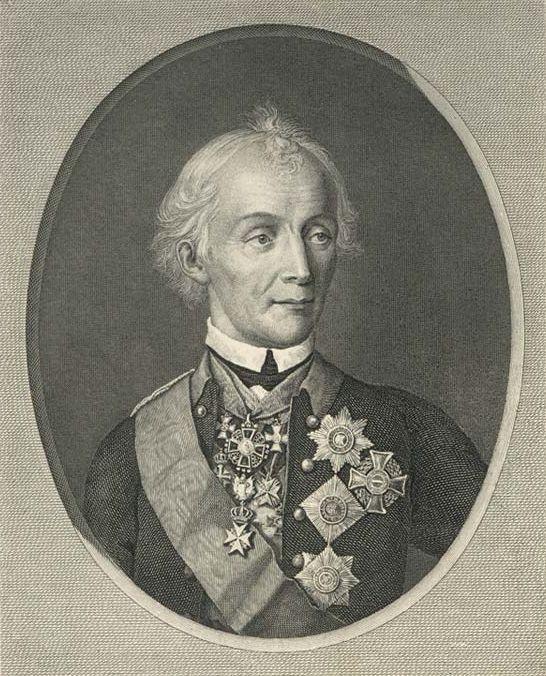 Портрет А. В. Суворова. 1818 г. Художник Н. И. Уткин.