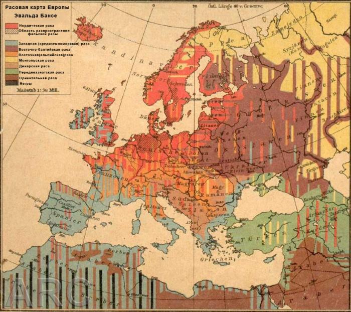 Расовая карта Бансе