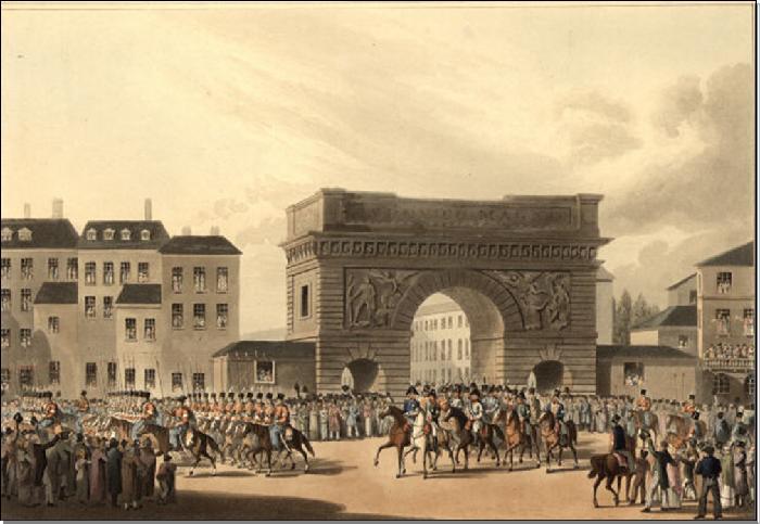 Император Александр входит в Париж