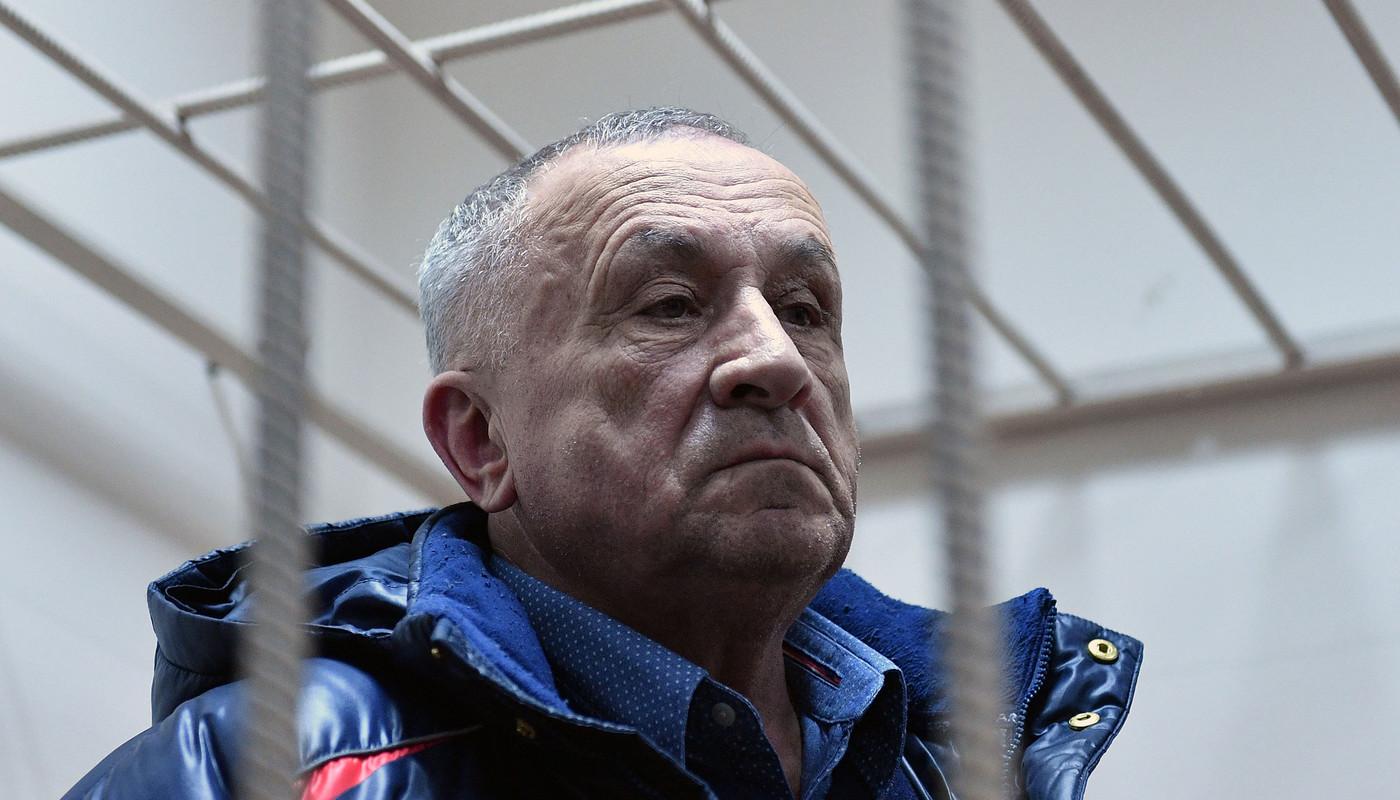 <p>Бывший глава Удмуртии Александр Соловьев во время рассмотрения ходатайства следствия о его аресте в Басманном суде.</p>