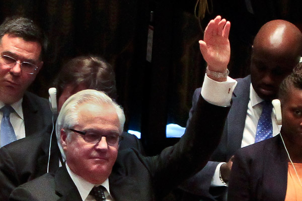 Виталий Чуркин: Хочется надеяться, что в 2015 году в ООН придется меньше заниматься кризисами. Фото: AP