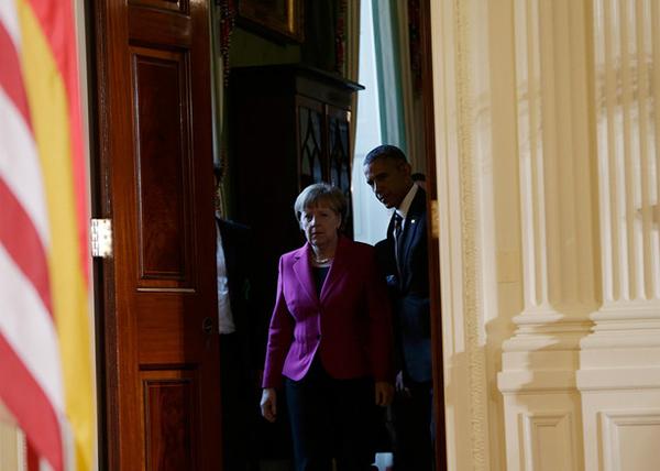Обама, Меркель, встреча, Вашингтон|Фото: Kevin Lamarque/Reuters