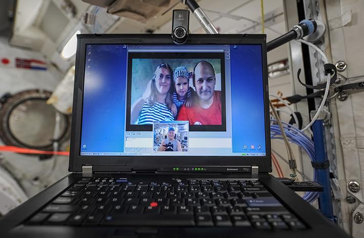 Приватная видеоконференция с семьей с МКС