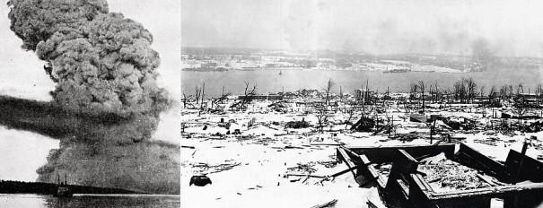 6 декабря 1917 г. в 9.06 утра в гавани Галифакса произошел чудовищный взрыв, который уничтожил значительную часть города.