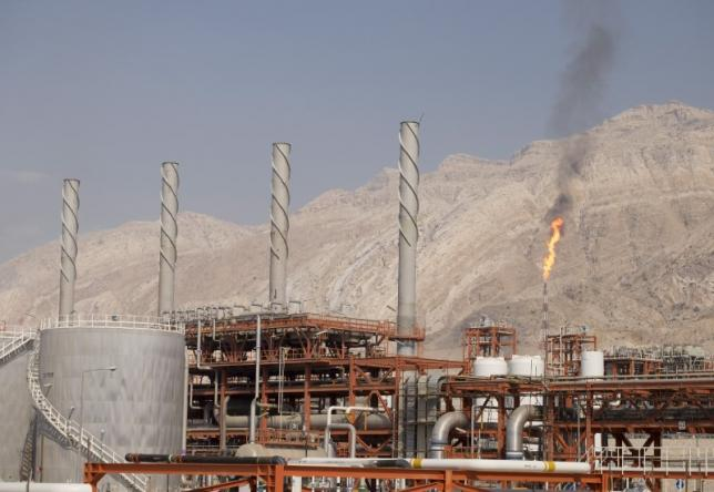 General view shows a unit of South Pars Gas field in Asalouyeh Seaport, north of Persian Gulf