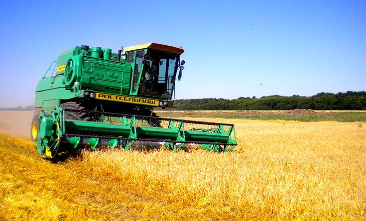 комбайн зерно пшеница аграрии