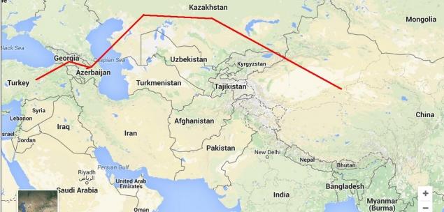 Схема Транскаспийского транспортного маршрута