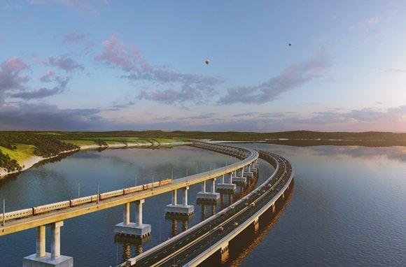 Строительство моста в Крым планируют начать в январе
