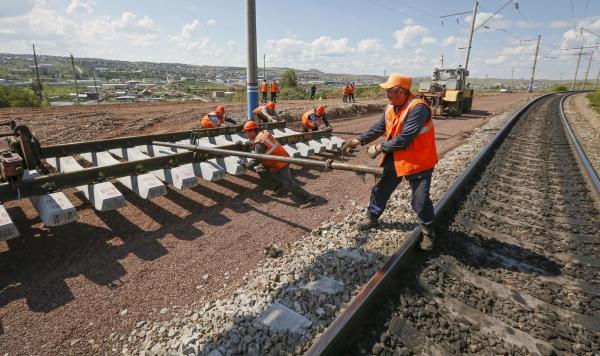 Строительство железной дороги в обход Украины идет с опережением графика